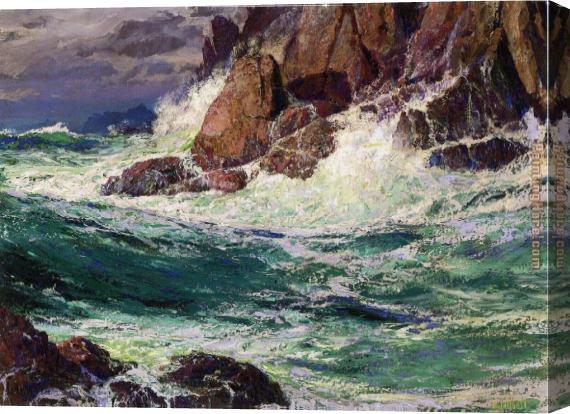 Edward Henry Potthast Stormy Seas Stretched Canvas Painting