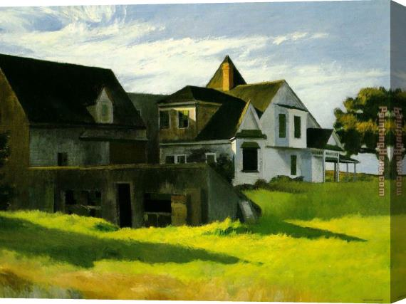 Edward Hopper Cape Cod Afternoon Stretched Canvas Painting