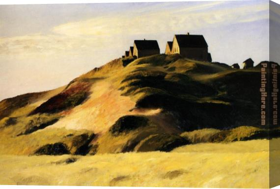 Edward Hopper Corn Hill Truro Cape Cod Stretched Canvas Painting