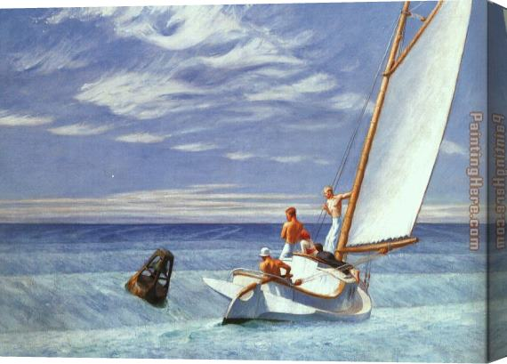 Edward Hopper Ground Swell Stretched Canvas Painting