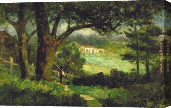 Edward Mitchell Bannister Homeward Stretched Canvas Painting