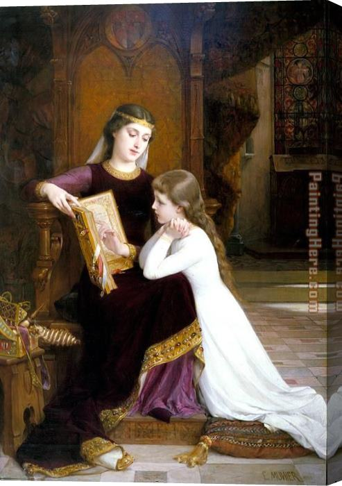 Emile Munier Autrefois Stretched Canvas Painting