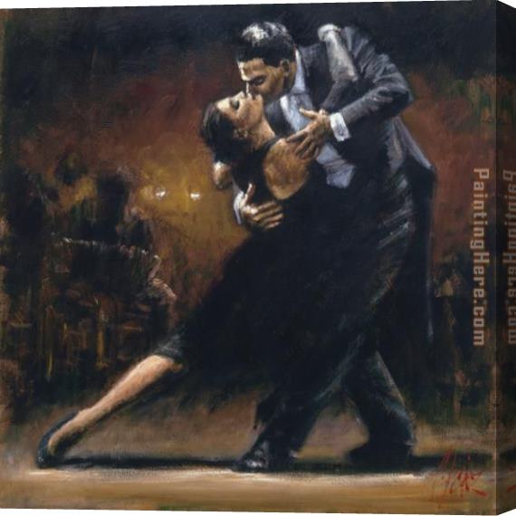 Fabian Perez Study for Tango V Stretched Canvas Painting
