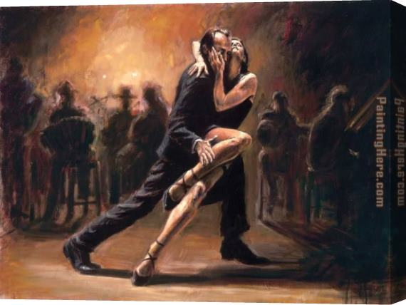 Fabian Perez Tango Stretched Canvas Painting