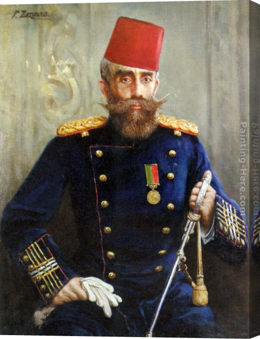 Fausto Zonaro Portrait of Mahmud Sevket Pasha Stretched Canvas Painting