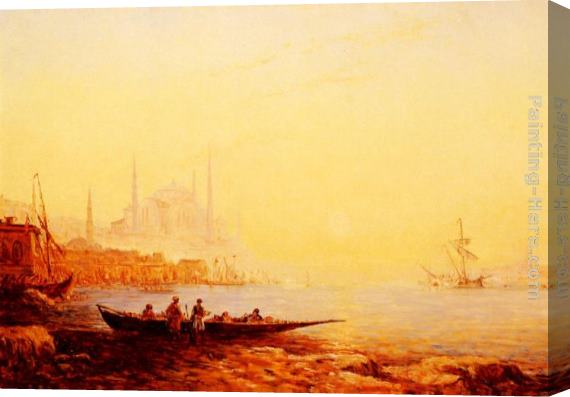 Felix Ziem Constantinople Stretched Canvas Painting
