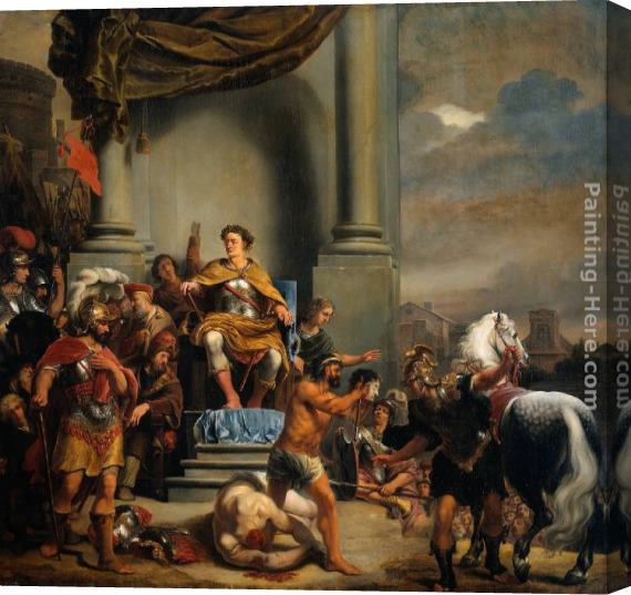 Ferdinand Bol Consul Titus Manlius Torquatus Beheading His Son Stretched Canvas Painting