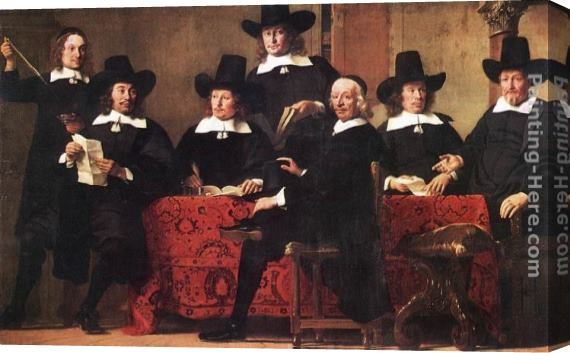 Ferdinand Bol Governors of the Wine Merchant's Guild Stretched Canvas Painting
