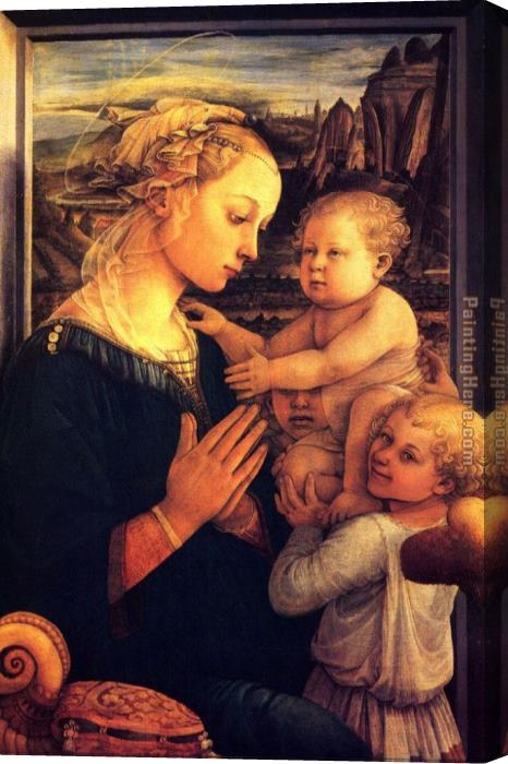 Filippino Lippi Virgin with Chilrden Stretched Canvas Painting
