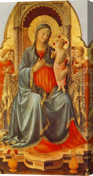 Fra Angelico Madonna with the Child and Angels Stretched Canvas Painting