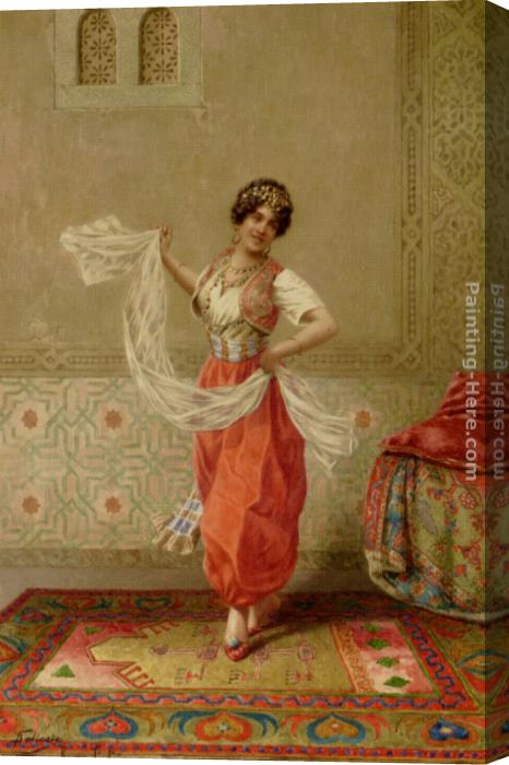 Francesco Ballesio The Oriental Dancer Stretched Canvas Painting