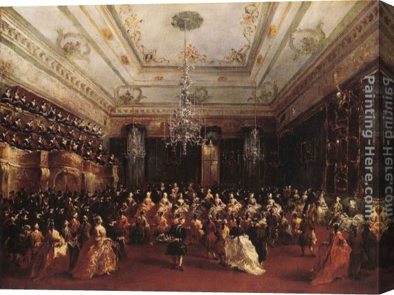 Francesco Guardi Ladies Concert at the Philharmonic Hall Stretched Canvas Painting