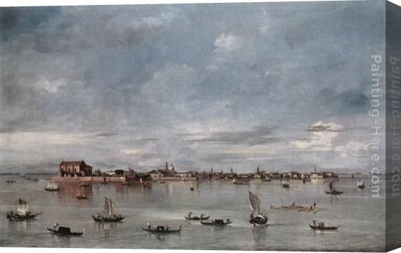 Francesco Guardi San Cristoforo, San Michele and Murano, Seen from the Fondamenta Nuove Stretched Canvas Painting