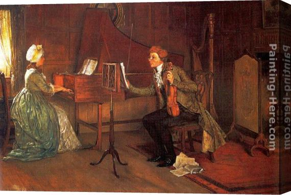 Francis Davis Millet A Difficult Duet Stretched Canvas Painting