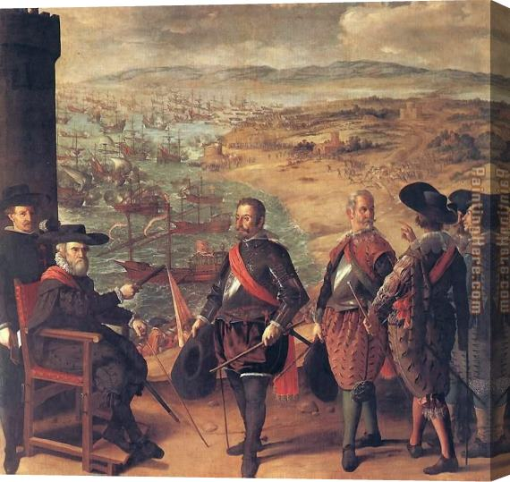 Francisco de Zurbaran Defence of Cadiz against the English Stretched Canvas Painting