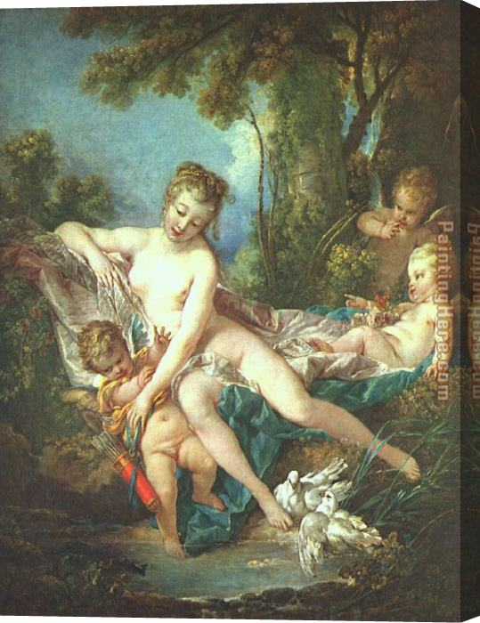 Francois Boucher Venus Consoling Love Stretched Canvas Painting