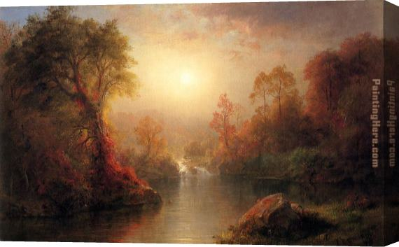 Frederic Edwin Church Autumn Stretched Canvas Painting