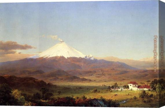 Frederic Edwin Church Cotopaxi Stretched Canvas Painting