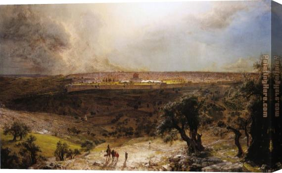 Frederic Edwin Church Jerusalem from the Mount of Olives Stretched Canvas Painting