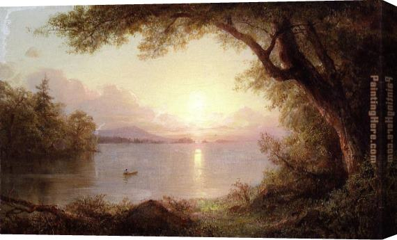 Frederic Edwin Church Landscape in the Adirondacks Stretched Canvas Painting