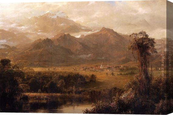 Frederic Edwin Church Mountains of Ecuador Stretched Canvas Painting