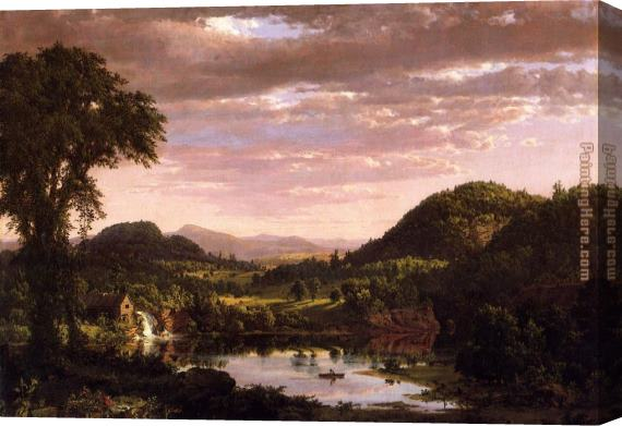 Frederic Edwin Church New England Landscape Stretched Canvas Painting