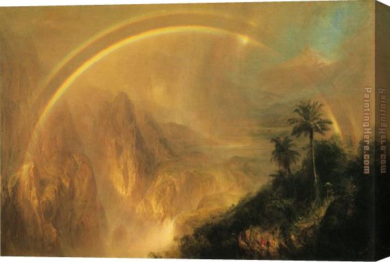 Frederic Edwin Church Rainy Season in the Tropics Stretched Canvas Painting