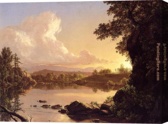 Frederic Edwin Church Scene on the Catskill Creek, New York Stretched Canvas Painting