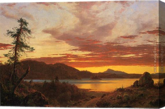 Frederic Edwin Church Sunset Stretched Canvas Painting