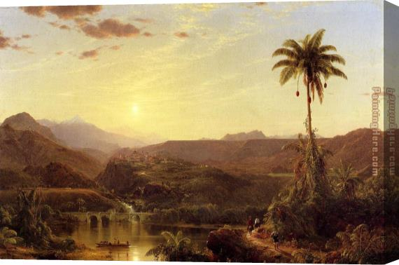 Frederic Edwin Church The Cordilleras Sunrise Stretched Canvas Painting