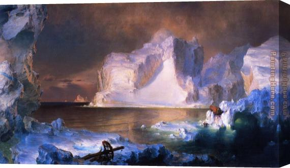 Frederic Edwin Church The Icebergs Stretched Canvas Painting