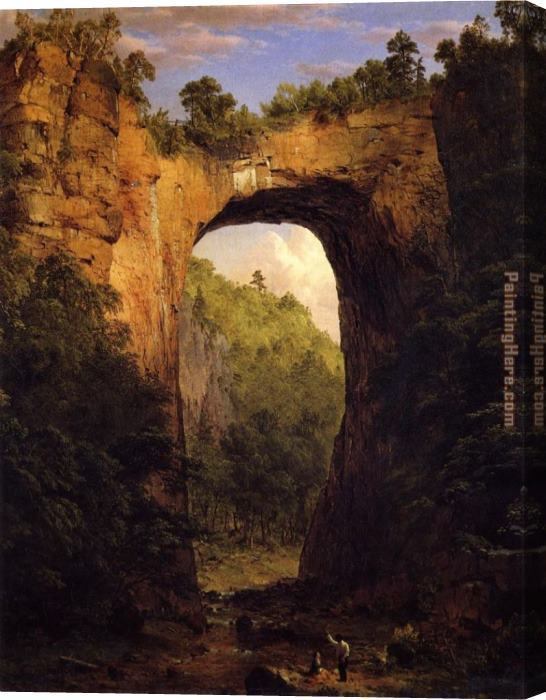 Frederic Edwin Church The Natural Bridge Stretched Canvas Painting