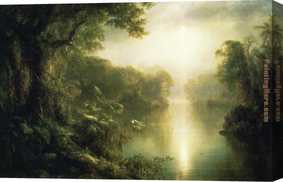 Frederic Edwin Church The River of Light Stretched Canvas Painting