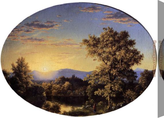 Frederic Edwin Church Twilight among the Mountains Stretched Canvas Painting