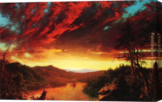 Frederic Edwin Church Twilight in the Wilderness Stretched Canvas Painting