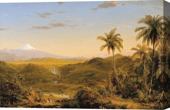 Frederic Edwin Church View of Cotopaxi Stretched Canvas Painting