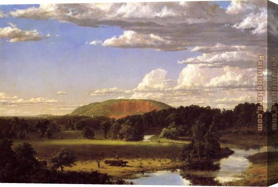 Frederic Edwin Church West Rock, New Haven Stretched Canvas Painting