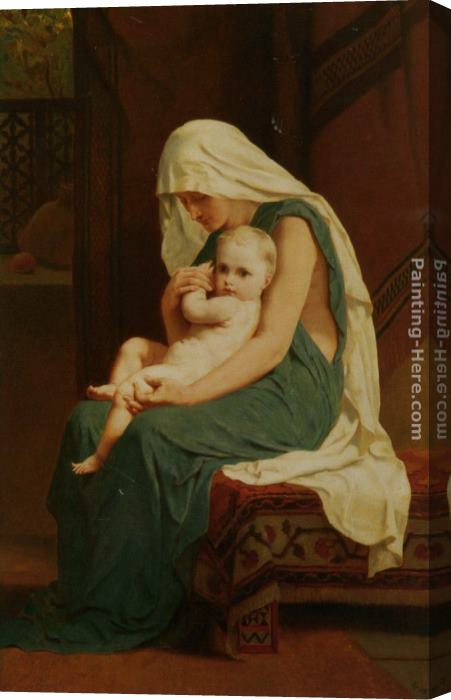 Frederick Goodall Mother and Child Stretched Canvas Painting