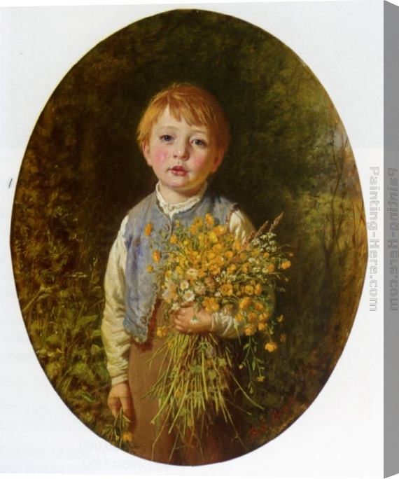 Frederick Morgan The Flower Gatherer Stretched Canvas Painting