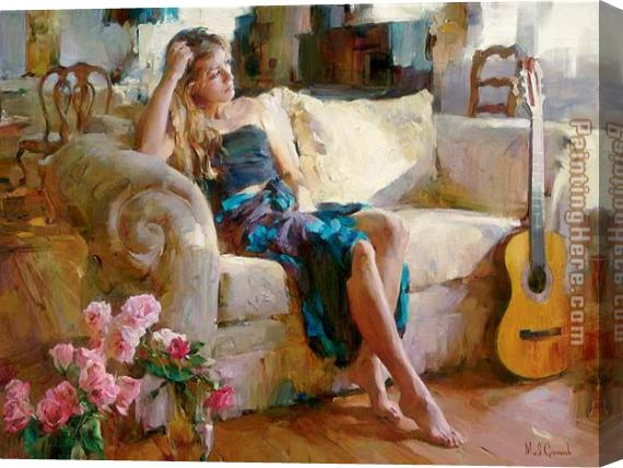 Garmash Music in the Afternoon Stretched Canvas Painting