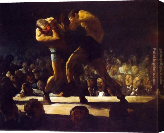 George Bellows Club Night Stretched Canvas Painting