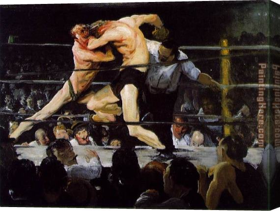 George Bellows Stag at Sharkey's Stretched Canvas Painting