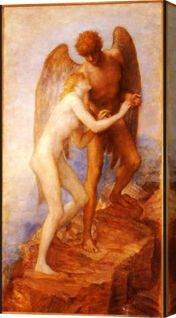 George Frederick Watts Love And Life Stretched Canvas Painting