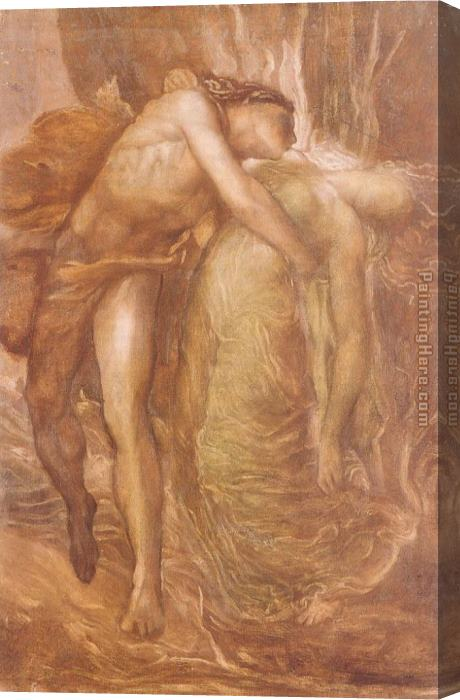 George Frederick Watts Orpheus and Eurydice Stretched Canvas Painting