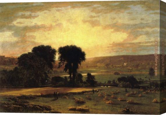 George Inness Peace and Plenty Stretched Canvas Painting