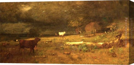 George Inness The Coming Storm Stretched Canvas Painting