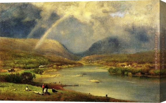 George Inness The Delaware Water Gap Stretched Canvas Painting