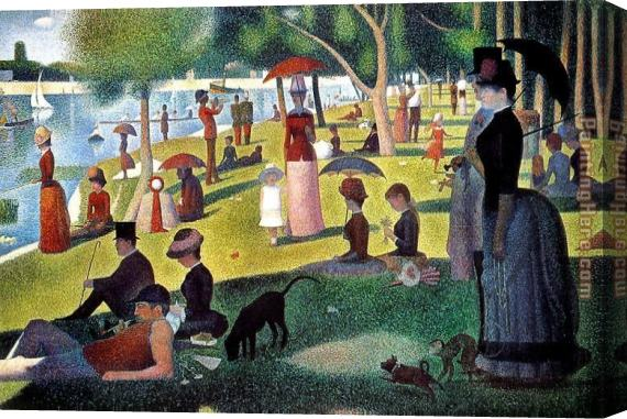 Georges Seurat Sunday Afternoon on the Island of la Grande Jatte Stretched Canvas Painting