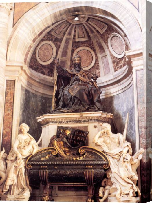 Gian Lorenzo Bernini Tomb of Pope Urban VIII Stretched Canvas Painting