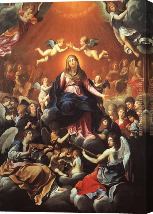 Guido Reni The Coronation of the Virgin Stretched Canvas Painting